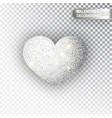 heart silver glitter isoleted on transparent vector image vector image