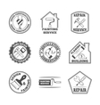 Home repair tools labels icons vector image