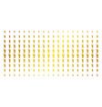 human footprint golden halftone effect vector image vector image