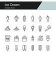 ice cream icons modern line design vector image vector image
