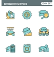 Icons line set premium quality of automotive vector image vector image