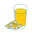 isolated juice glass vector image vector image