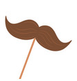 isolated mustache design vector image vector image