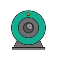 Isolated webcam device design vector image vector image