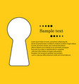 keyhole with space for text vector image vector image