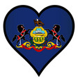 love pennsylvania vector image vector image
