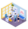 medical testing isometric background vector image vector image