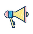 megaphone element to speak and said message vector image