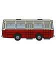 old dark red bus vector image