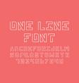one line font alphabet vector image vector image