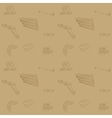 Pattern with spare parts for car vector image vector image