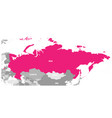political map of russia and surrounding countries vector image vector image