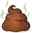 poop pile cartoon vector image vector image
