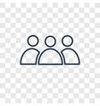 population concept linear icon isolated on vector image