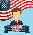 presidents day design vector image