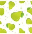 pretty graphic pears seamless pattern vector image vector image