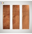 set banners with grunge cardboard texture vector image