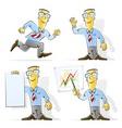 set of cartoon businessman vector image vector image
