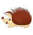 smiling cartoon hedgehog vector image vector image