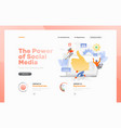 social media marketing web page vector image