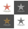 stars of striped ribbons perfect set for your vector image
