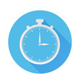 stop watch icon web round blue sign vector image