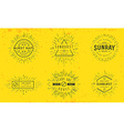 sun burst vintage shapes collection set sun ray vector image vector image