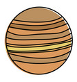venus planet isolated icon vector image