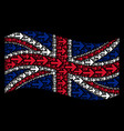 waving united kingdom flag mosaic of right arrow vector image vector image