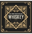 whiskey label with old frames vector image vector image
