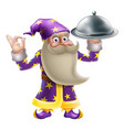 wizard chef or cook vector image vector image