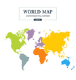 World Map Continental Divide vector image vector image