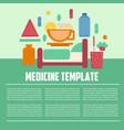 medicine template flat style vector image