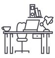 office deskhome desk line icon sign vector image