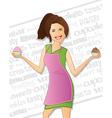 Bakery Woman vector image
