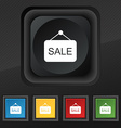 Sale icon symbol Set of five colorful stylish vector image