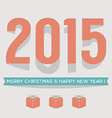 2015 Vintage New Year Card vector image vector image