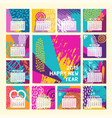 2018 fun color hand drawn new year calendar vector image vector image