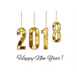 2018 happy new year snow backgroundmerry vector image vector image