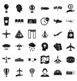 aircraft icons set simple style vector image vector image