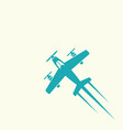 airplane isolated colored icon vector image