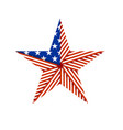 american star folded from the american flag vector image