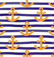 Anchor on Lines Seamless Pattern vector image