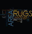area rugs wholesalers text background word cloud vector image vector image