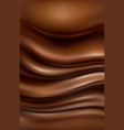 background with flowing hot chocolate vector image vector image