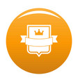 badge emperor icon orange vector image