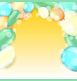 balloons with bubbles in air vector image vector image