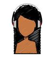 beautiful woman shirtless avatar character vector image vector image