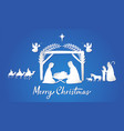 birth christ mary and joseph shepherds wisemen vector image vector image
