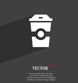 Breakfast Coffee symbol Flat modern web design vector image